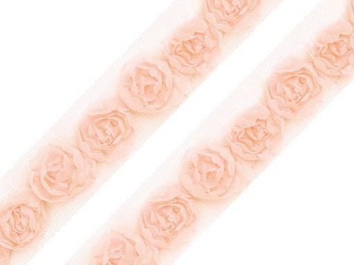 Prámik na tyle šírka 20 mm s ružami