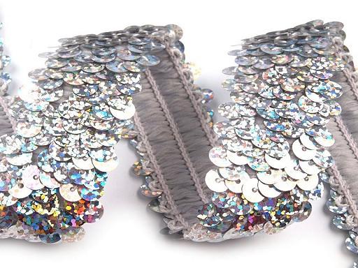 Flitrový prýmek šíře 30 mm hologram