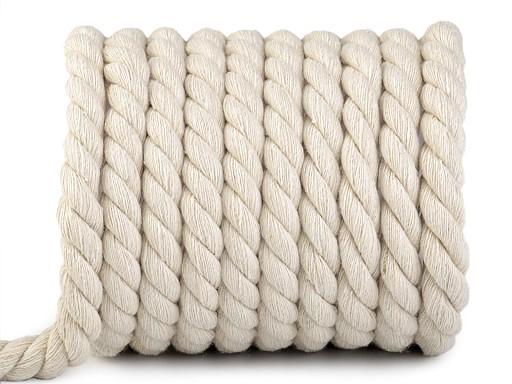 Bavlnená šnúra točená Ø15 mm