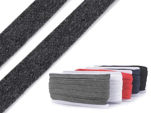Oděvní šňůra plochá šíře 15 mm