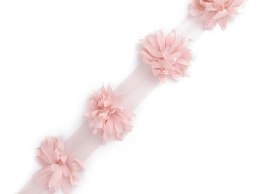 Prýmek květ na tylu šíře 60 mm