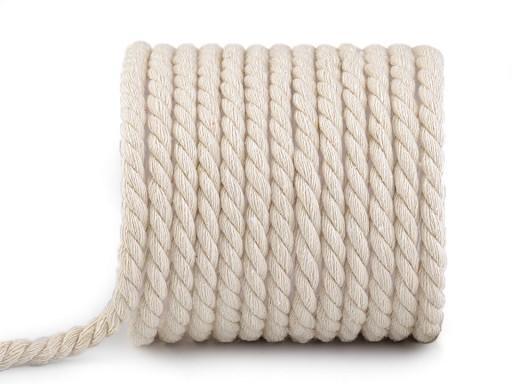 Bavlněná šňůra kroucená Ø8 mm