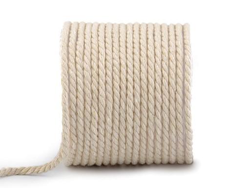 Bavlněná šňůra kroucená Ø5 mm