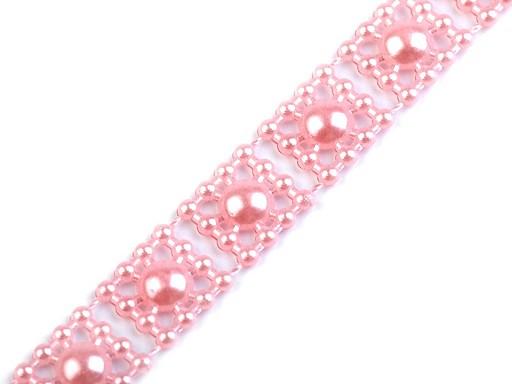 Borta s perlami - půlperle šíře 9 mm