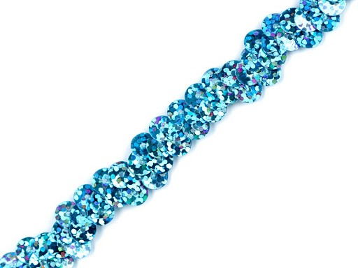 Flitrový prýmek šíře 10 mm elastický