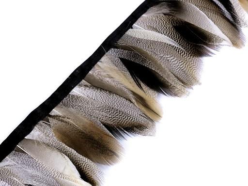 Prýmek - kachní peří šíře 7 cm
