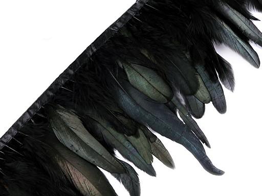 Prýmek - kohoutí peří šíře 15 - 19 cm
