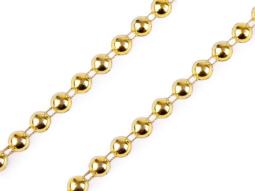 Vánoční perlový řetěz - půlperle Ø8 mm