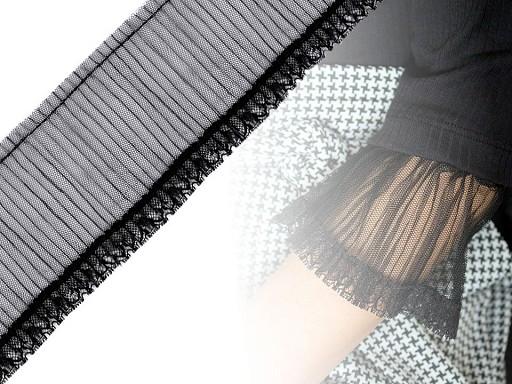 Prýmek monofilový plisovaný šíře 90 mm
