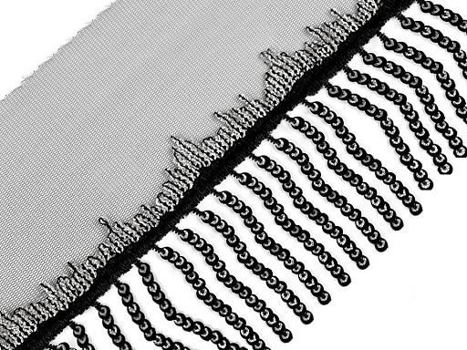 Prámik monofilový s flitrovými strapcami šírka 13 cm
