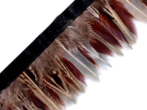 Prýmek - bažantí peří šíře 40-60 mm