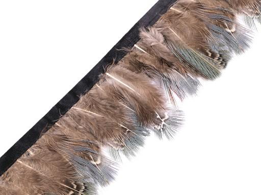 Taśma z piór - bażancie pióra szerokość 60 mm