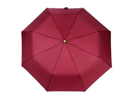 Dámsky skladací vystrelovací dáždnik s bodkami