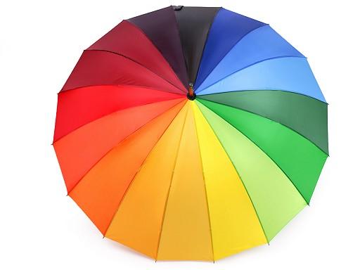 Ladies Stick Umbrella Rainbow