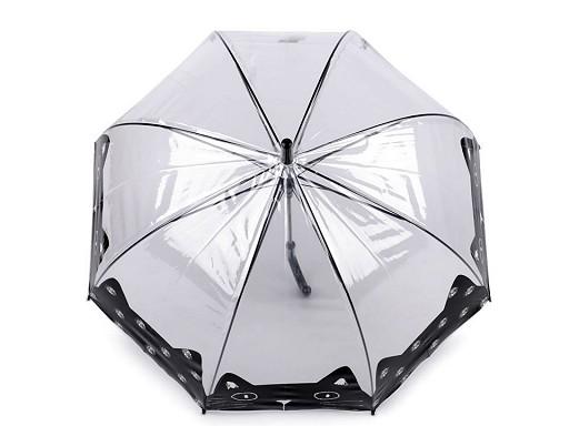Dívčí průhledný deštník kočka