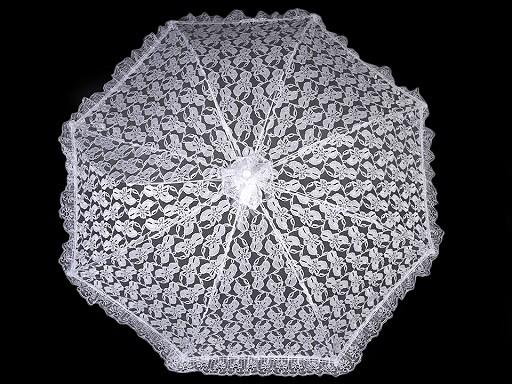 Svadobný čipkový vystreľovací dáždnik
