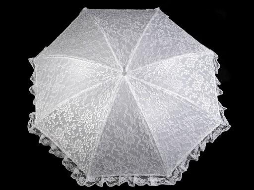 Parasolka ślubna z koronką