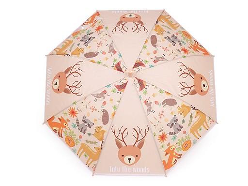 Dětský vystřelovací deštník s píšťalkou - jednorožec, zvířátka, pejsci
