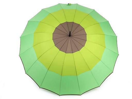 Velký rodinný deštník s pruhy