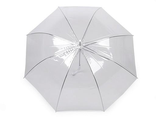 Dámsky / svadobný priehľadný vystrelovací dáždnik