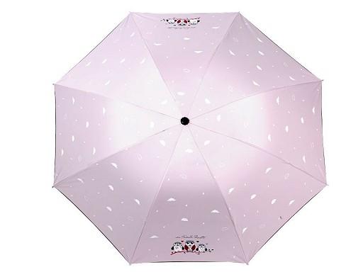 Dámský / dívčí skládací deštník sovy