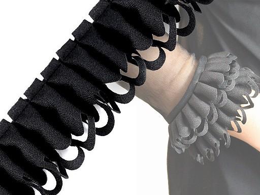 Falbanka żorżetowa ażurowa szerokość 45 mm
