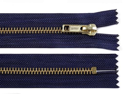 Kovový / mosadzný zips šírka 6 mm dĺžka 14 cm