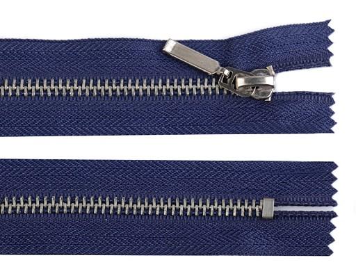 Kovový / mosazný zip šíře 6 mm délka 14 cm (jeansový)