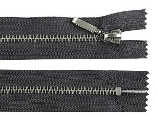 Kovový / mosadzný zips šírka 6 mm dĺžka 14 cm (jeansový)