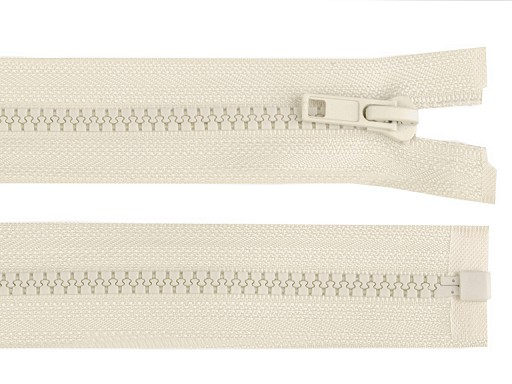 Kostěný zip šíře 5 mm délka 45 cm bundový