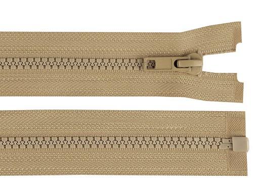 Kostěný zip šíře 5 mm délka 70 cm bundový