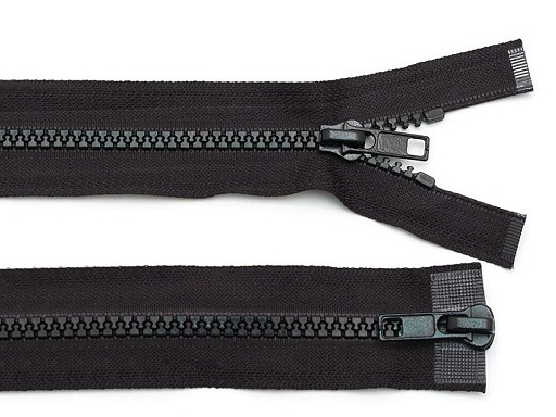 Zips kostený 5mm deliteľný 2 bežce 70 cm bundový