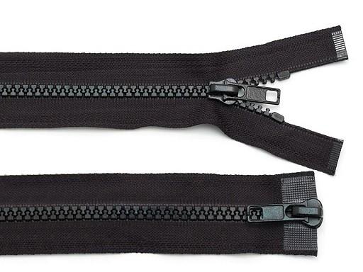 Plastic Jacket Zipper 5 mm open-end, 2 sliders length 75 cm