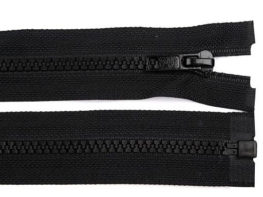 Kostěný zip šíře 5 mm délka 110 cm bundový černý