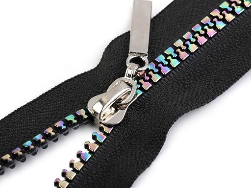 Duhový kostěný zip šíře 5 mm délka 70 cm