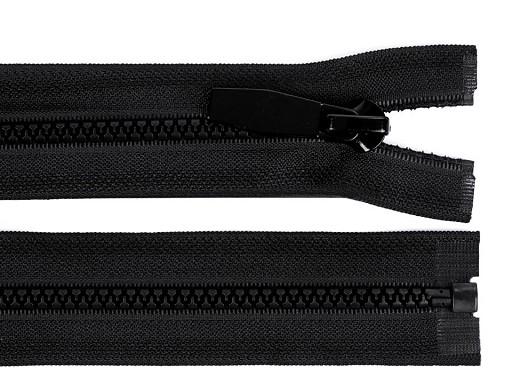 Kostený zips šírka 5 mm dĺžka 80 cm okrúhle zúbky