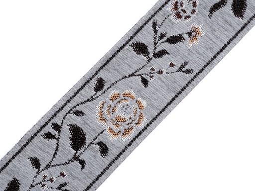 Gobelínová metráž / vzorovka žinylka šíře 55 mm