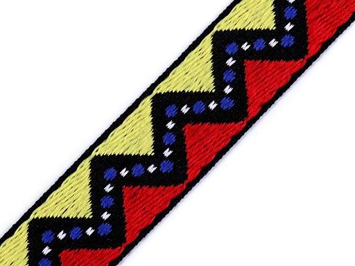 Prýmek / vzorovka indiánský motiv šíře 20 mm