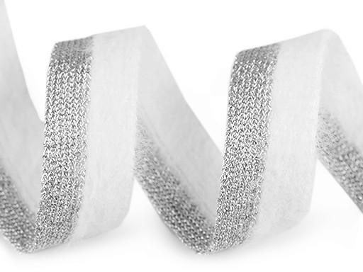 Taśma lampas / odzieżowa pluszowa z lureksem szerokość 22 mm