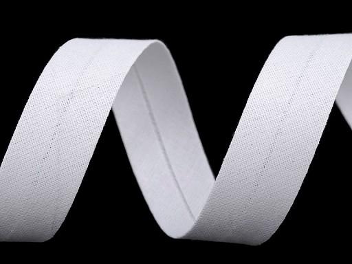 Šikmý proužek bavlněný šíře 18 mm zažehlený