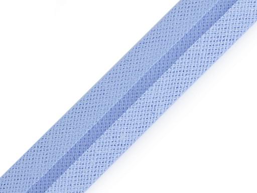 Šikmý proužek bavlněný šíře 20 mm zažehlený