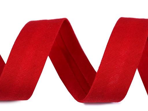 Šikmý proužek bavlněný elastický šíře 20 mm zažehlený