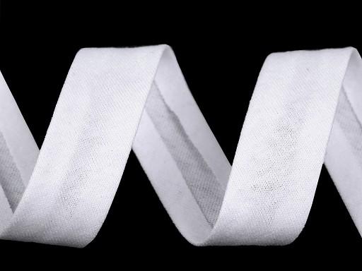 Šikmý prúžok bavlnený elastický šírka 20 mm zažehlený