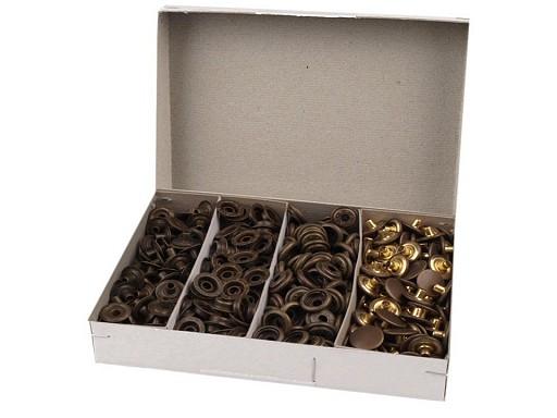 Capse metalice, finisaj alamă antică,  Ø15 mm (AM6)