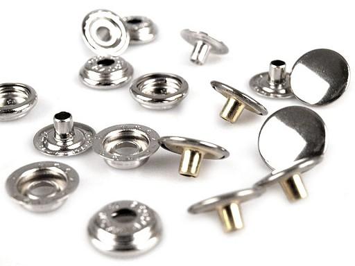 Capse metalice, finisaj argintiu,Ø15 mm