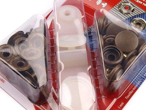 Kovové druky Ø15 mm staromosadz