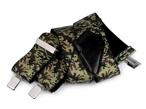 Camouflage Trouser Braces / Suspenders width 5 cm length 120 cm
