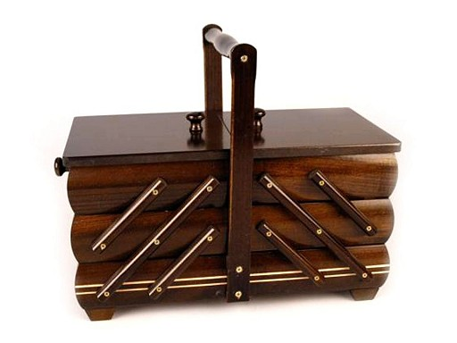 Kazeta / košík na šití rozkládací malý