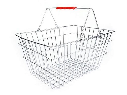 Coș de cumpărături metalic