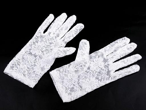Společenské rukavice krajkové